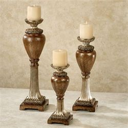 Jyneva Candleholders Bronze Set of Three