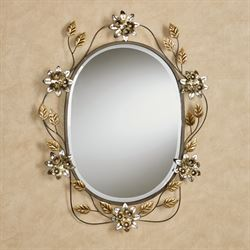 Bellissa Oval Wall Mirror Multi Metallic