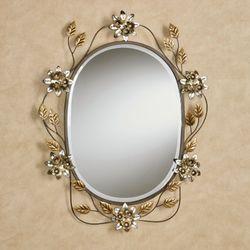 Bellissa Oval Wall Mirror Multi Metallic
