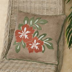 Camden Tropical Floral Decorative Pillow Sand 18 Square