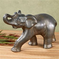 Prideful Elephant Table Sculpture Dark Bronze