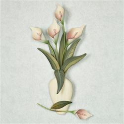 Calla Lily Vase Wall Sculpture Ivory