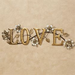Bellissa Love Word Wall Art Multi Metallic