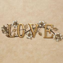 Bellissa Love Word Wall Art Multi Metallic