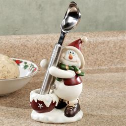 Snowman Ice Cream Scoop and Holder Set White
