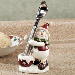 Snowman Ice Cream Scoop and Holder Set White