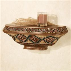 Tribal Spirit Wall Shelf Multi Earth