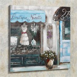Boutique Narette Canvas Wall Art Blue