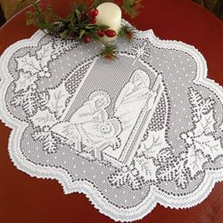 Holy Family Placemats White Set of Four