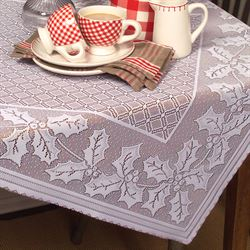 Holiday Holly Oblong Tablecloth