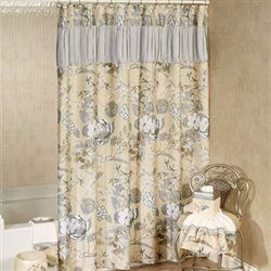 Ashley Shower Curtain Beige 70 x 72