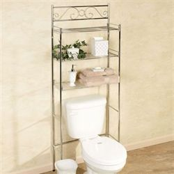 Scroll Bathroom Space Saver Chrome