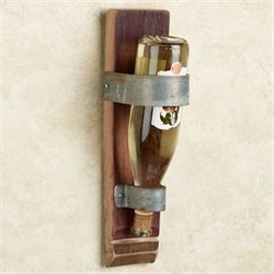 Classic Stave Wall Wine Bottle Holder Walnut
