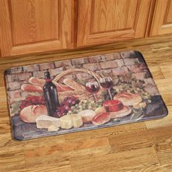 Tuscan Evening Memory Foam Mat Multi Warm 22 x 35