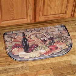 Tuscan Evening Memory Foam Slice Mat Multi Warm 30 x 18