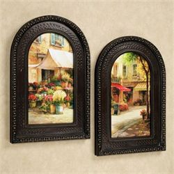 The Flower Market Wall Art Set Multi Warm Set of Two