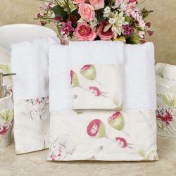 Floral Haven Bath Towel Set White Bath Hand Wash