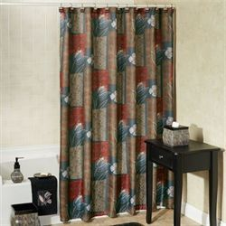 Borneo Shower Curtain Multi Warm 72 x 72