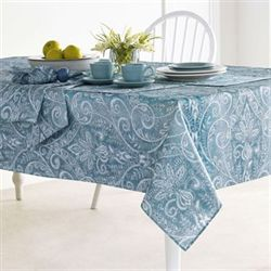Caroline Oblong Tablecloth Blue