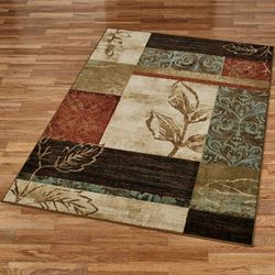 Natures Mirage Rectangle Rug Multi Warm