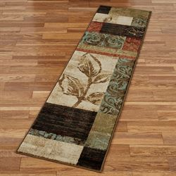 Natures Mirage Block Design Rug Runner