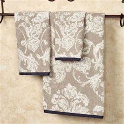 Natalia Bath Towel Set Light Taupe Bath Hand Fingertip