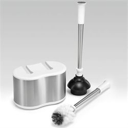 Toilet Bowl Brush and Plunger Set