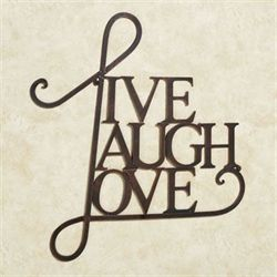 Live Laugh Love Word Wall Art Antique Copper