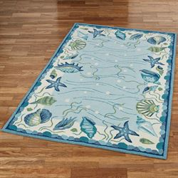 Blue Lagoon Rectangle Rug Light Blue