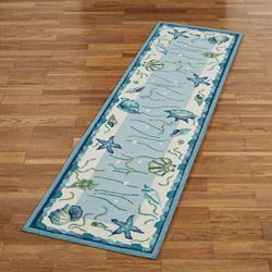 Blue Lagoon Rug Runner Light Blue 2 x 76