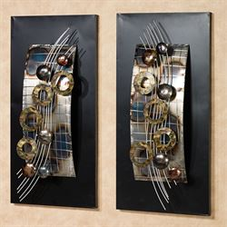 Silver Wave Wall Art Panel Set Set of Two