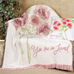 You Are So Loved Throw Blanket White