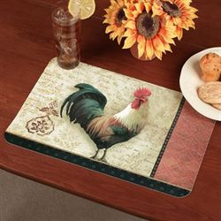 Signature Rooster Placemat Set Cream Set of Four