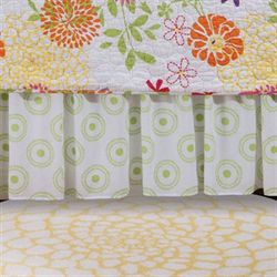 Lilly Gathered Bedskirt White