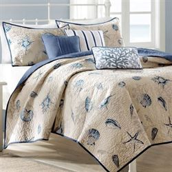 Nantucket 6 pc Coverlet Bed Set Ecru