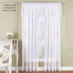 Malta Sheer Wide Tailored Curtain Pair 110 x 84