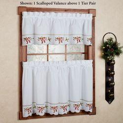 Holiday Joy Tailored Tier Pair White