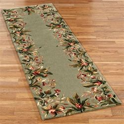 Tropical Border Rug Runner  26 x 8
