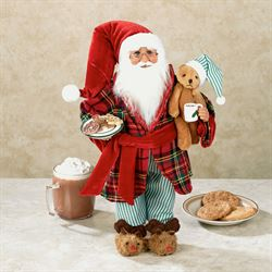 Milk and Cookies Collectible Santa Red