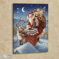 Santa Wall Canvas Art Multi Warm