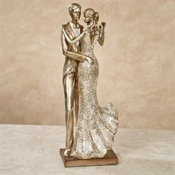 Special Occasion Dancing Couple Figurine Multi Metallic