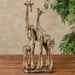 Adoring Giraffes Table Sculpture Gold