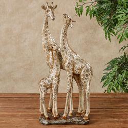 Adoring Giraffes Table Sculpture Gold