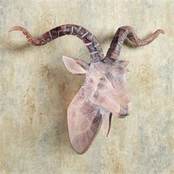 Antelope Head Wall Art Beige/Brown