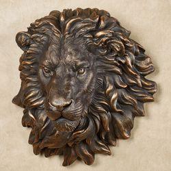 Power and Presence Lion Head Wall Sculpture Bronze