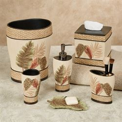 key west tropical bath accessories - Bathroom Accessories Set