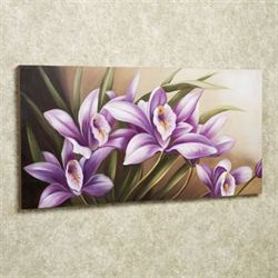 Wild Orchid Canvas Art Purple