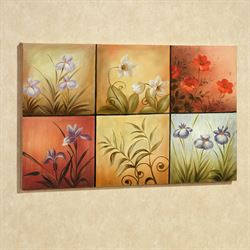 Floral Mystery Canvas Art Multi Warm