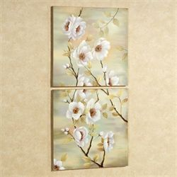 Dogwood Canvas Art Set Multi Pastel Set of Two