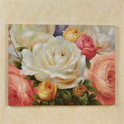 Rose Garden Canvas Art Multi Pastel